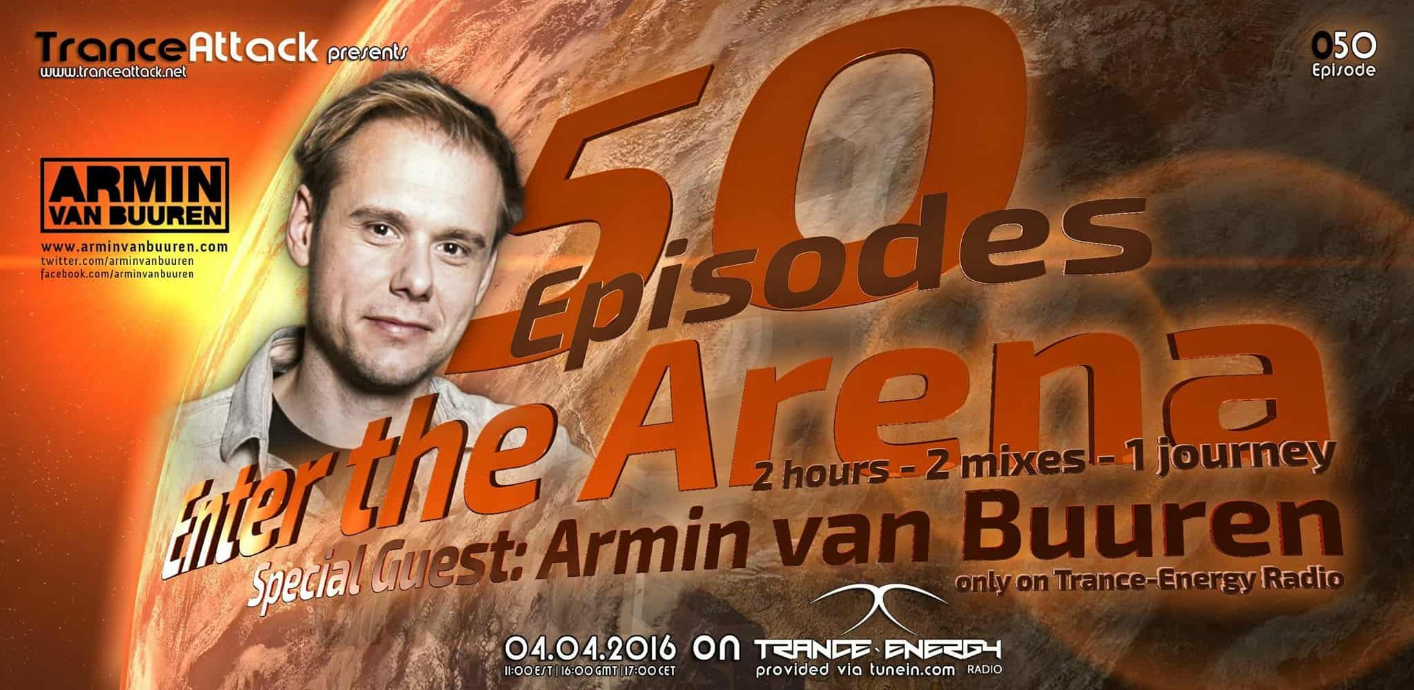 Enter The Arena 50: Armin van Buuren and D-Vine Inc.