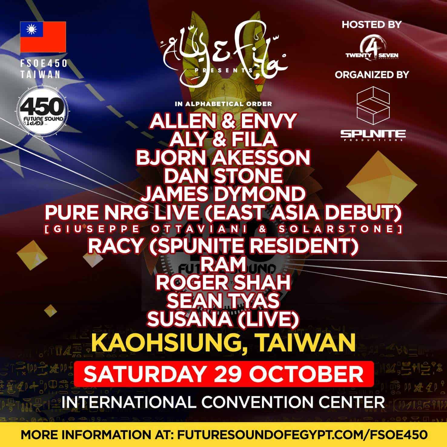 Future Sound Of Egypt 450 (29.10.2016) @ Kaohsiung, Taiwan