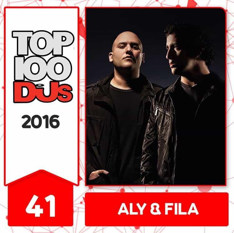 Aly & Fila at No.41 of the DJ Mag 100 2016