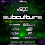 Digital Society presents Subculture (11.11.2016) @ Leeds, UK