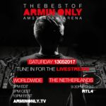 "Armin van Buuren announces Live Stream of his ""The Best Of Armin Only"" Arena Show!"