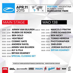 A State Of Trance 700 - Mainstage (11 04 2015) @ Buenos