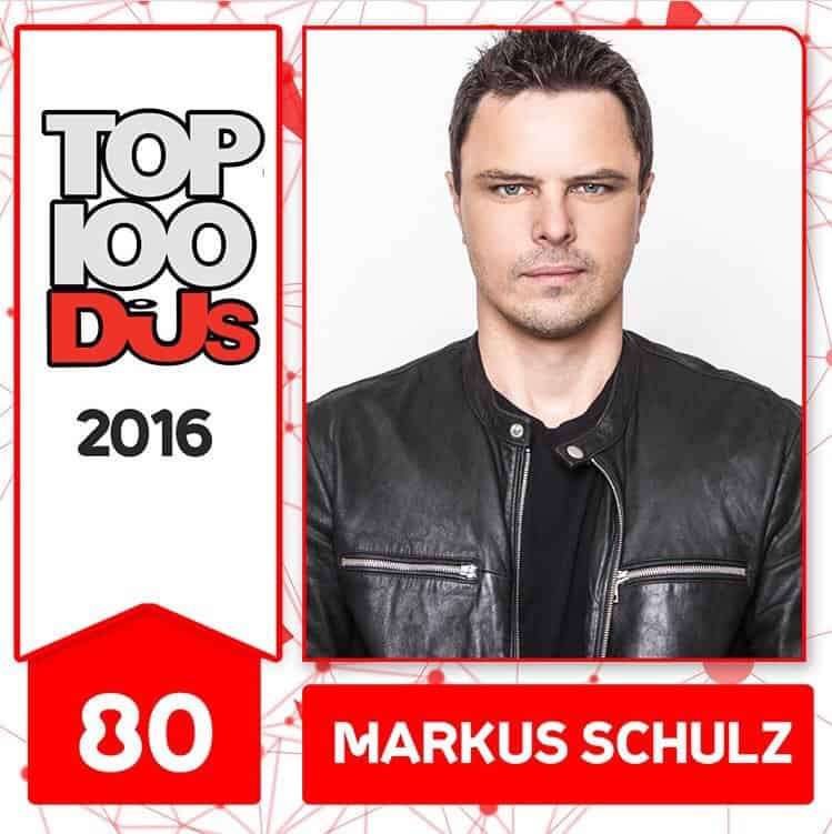 Markus Schulz at No.80 of the DJ Mag 100 2016