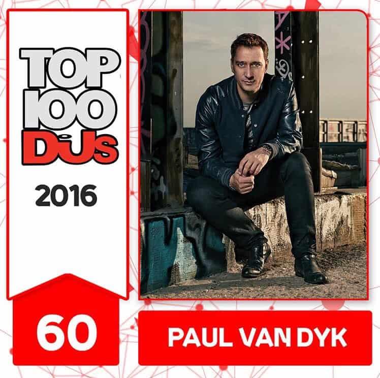 Paul van Dyk at No.60 of the DJ Mag 100 2016