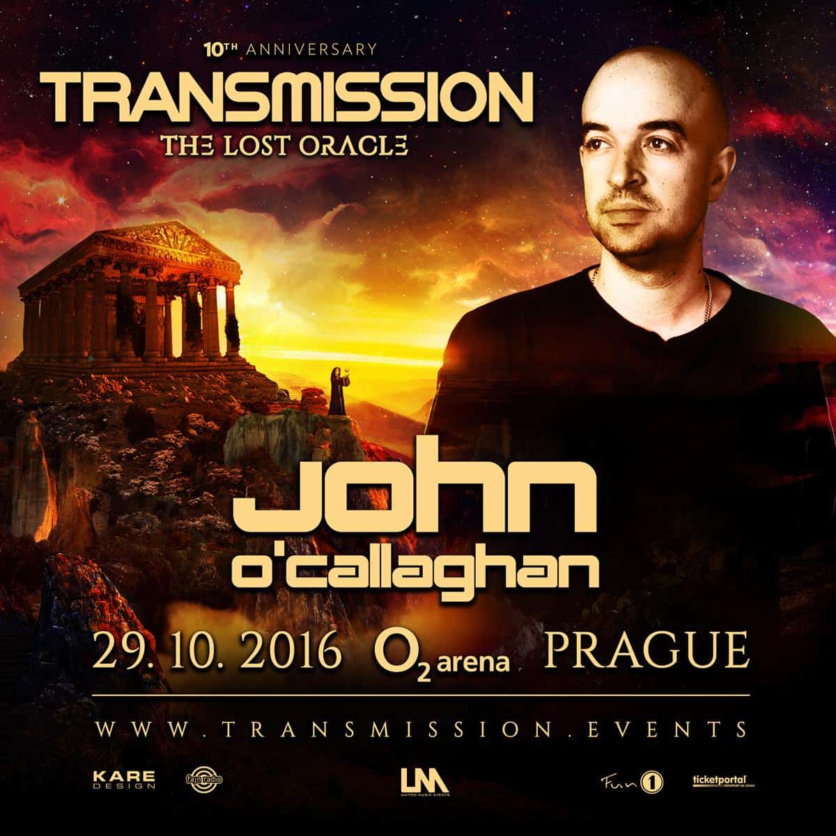 John O'Callaghan live at Transmission - The Lost Oracle (29.10.2016) @ Prague, Czech Republic