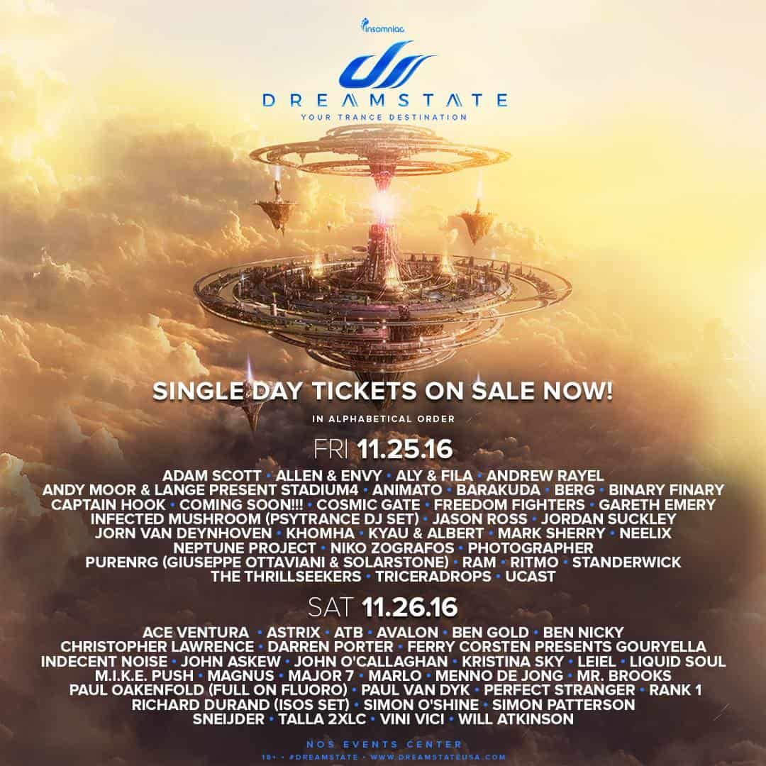 Dreamstate SoCal (25. - 26.11.2016) @ San Bernadino, USA