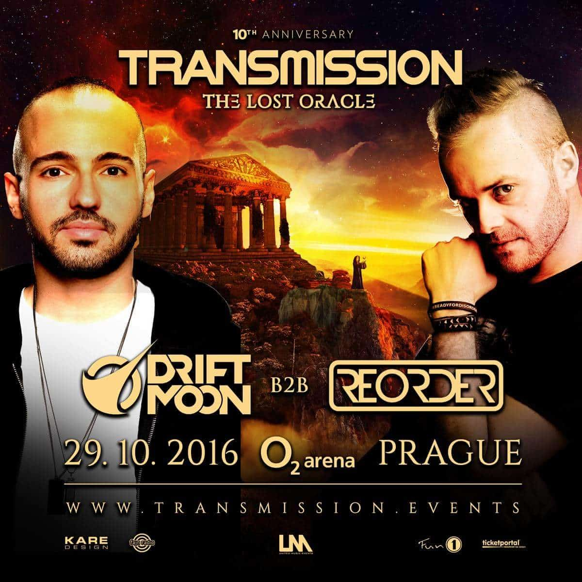 Driftmoon B2b ReOrder live at Transmission - The Lost Oracle (29.10.2016) @ Prague, Czech Republic
