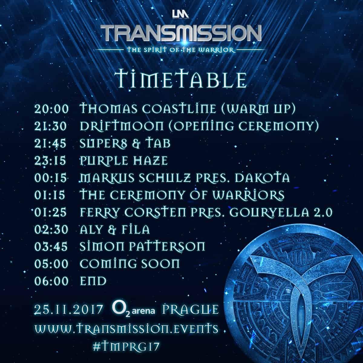 Timetable Transmission 2017