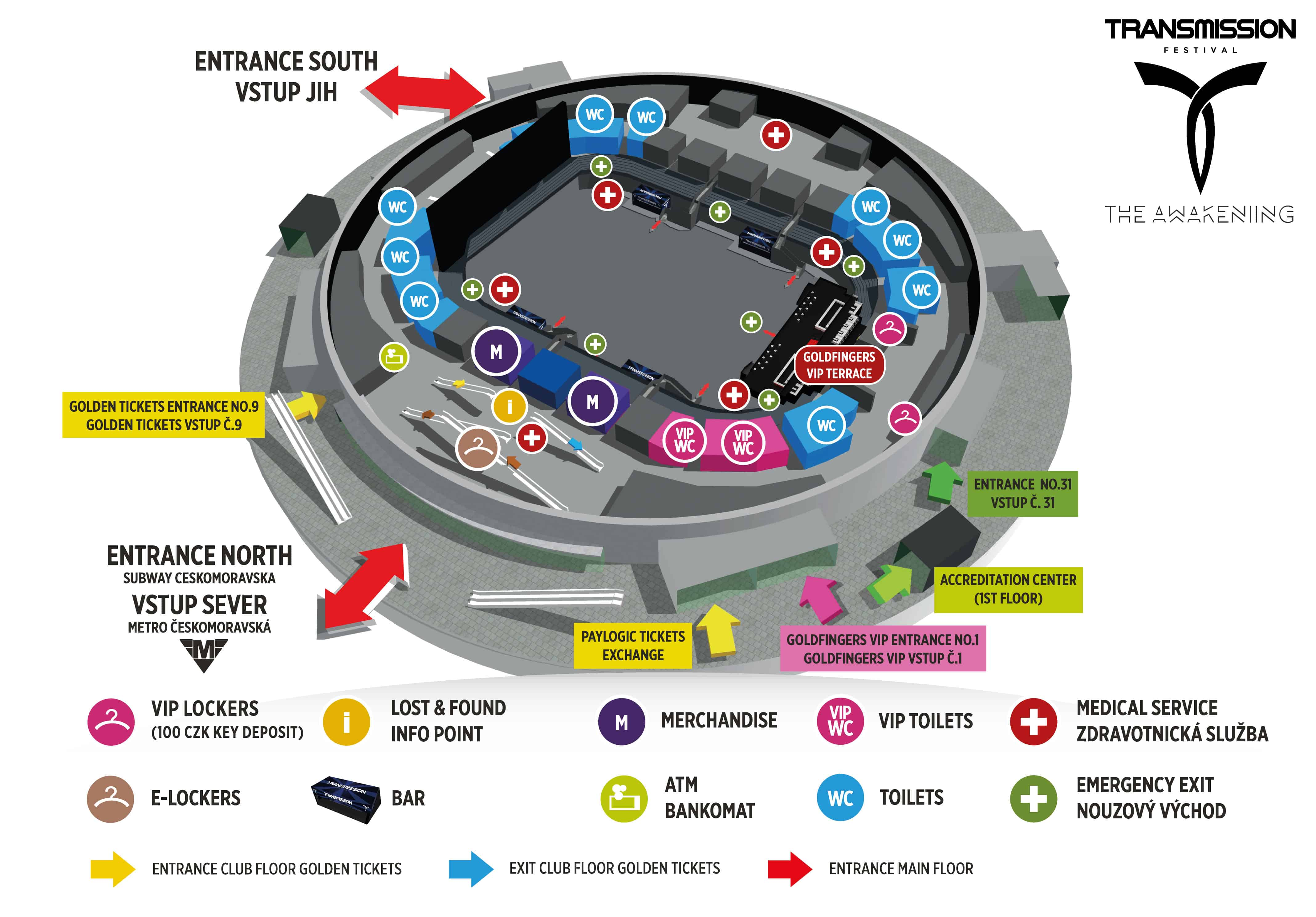 O2 Arena Map
