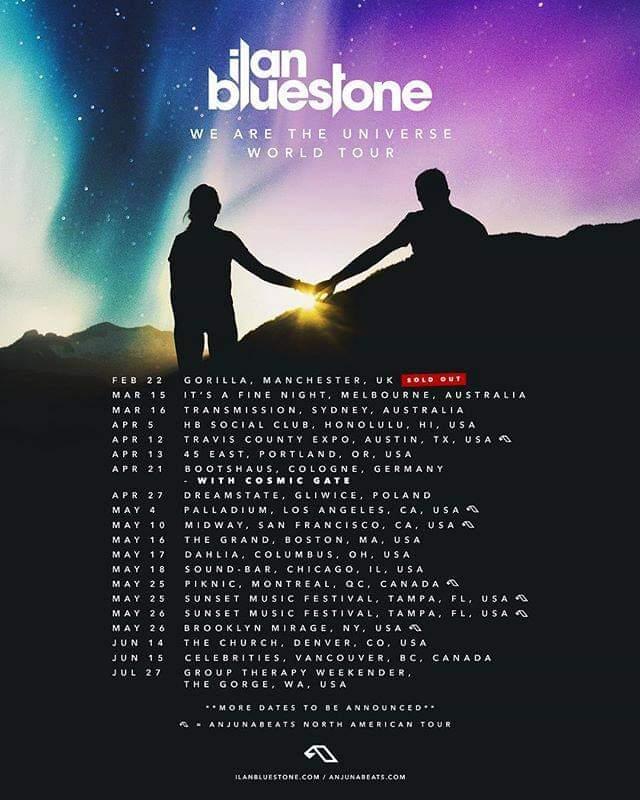 ilan Bluestone We Are The Universe World Tour
