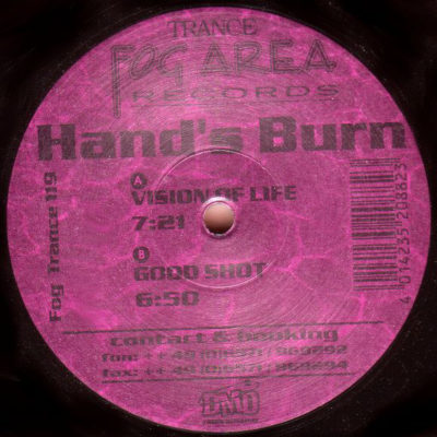 Hand's Burn - Vision Of Life