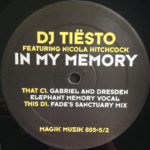 Tiësto feat. Nicola Hitchcock – In My Memory (Gabriel & Dresden Elephant Memory Vocal)