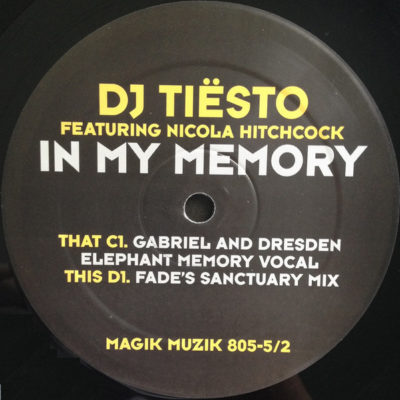 Tiësto feat. Nicola Hitchcock - In My Memory (Gabriel & Dresden Elephant Memory Vocal)